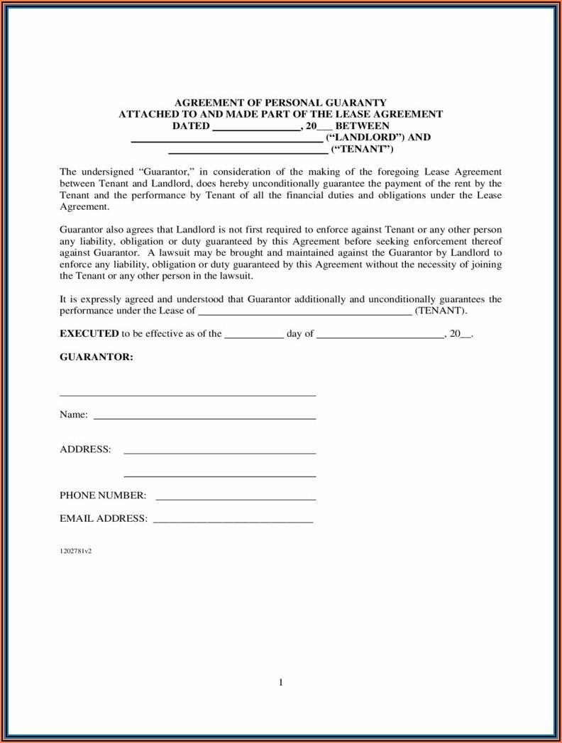 Rental Guarantor Form Victoria