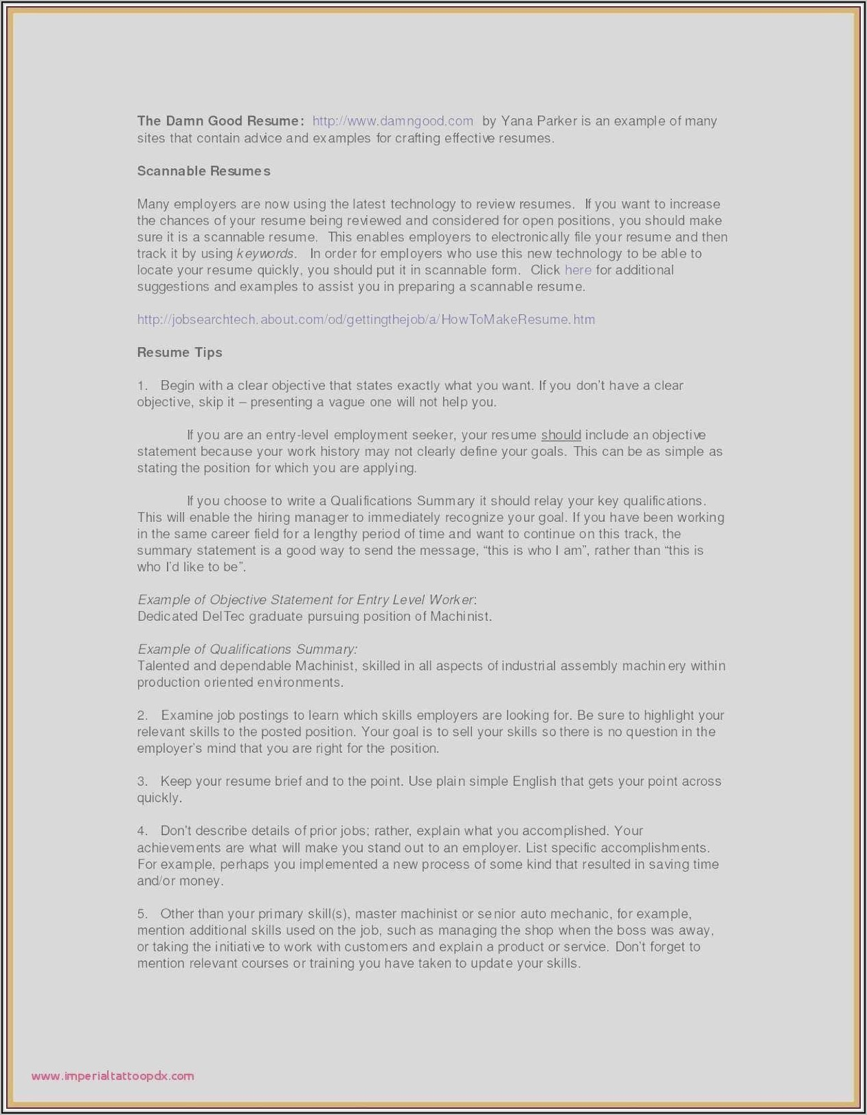 Resume Objective Sample For Project Manager