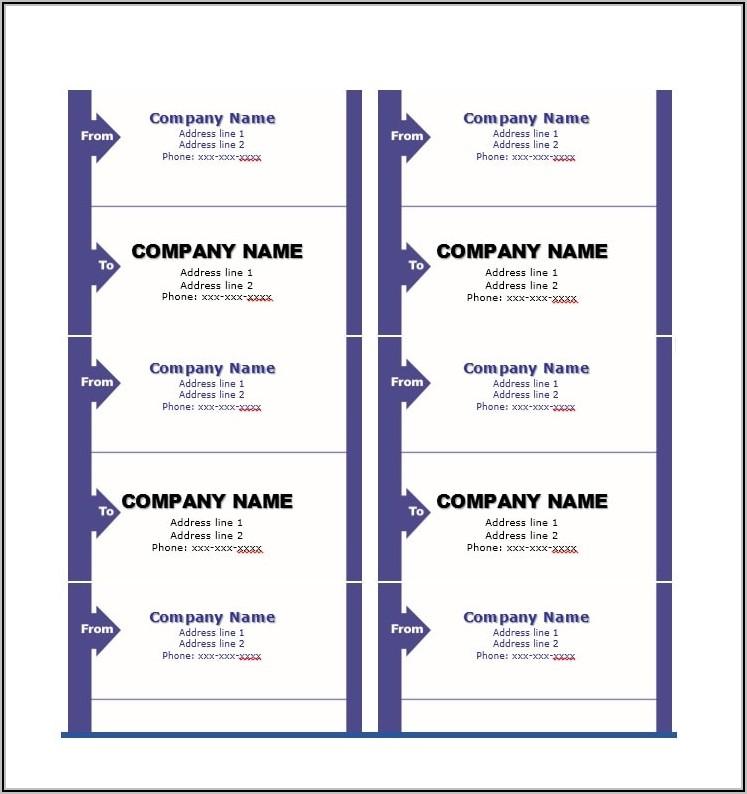 Return Address Label Format