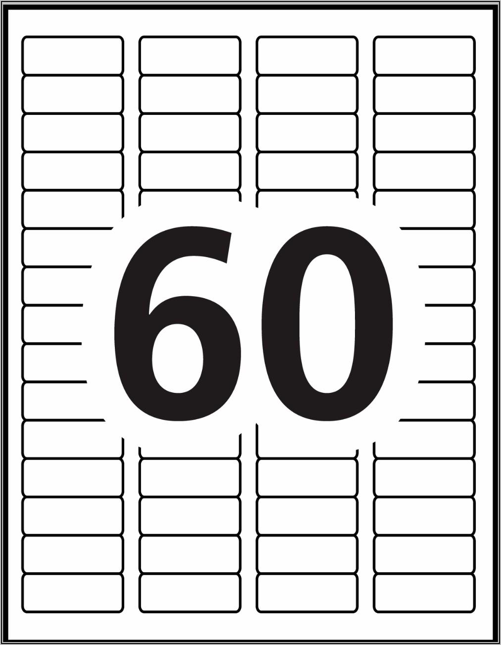 Return Address Label Templates 60 Per Sheet