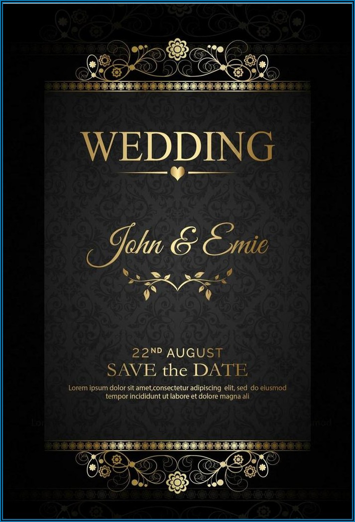 Rose Gold And Black Invitation Template (free)