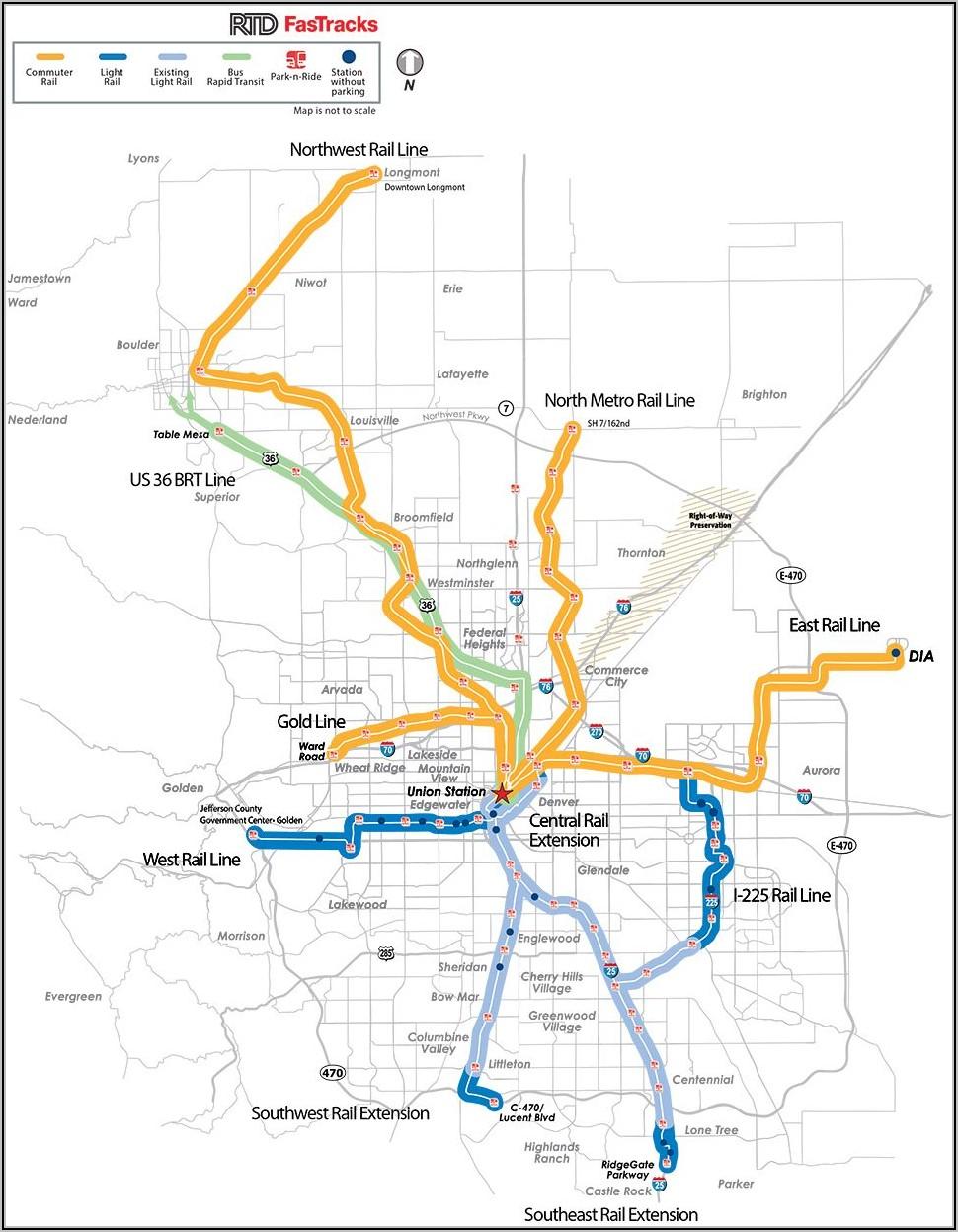 Rtd Denver Bus System Map