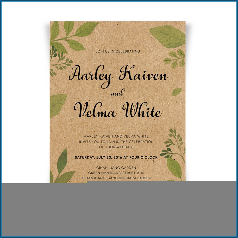 Rustic Wedding Invitations With Rsvp Cards Included