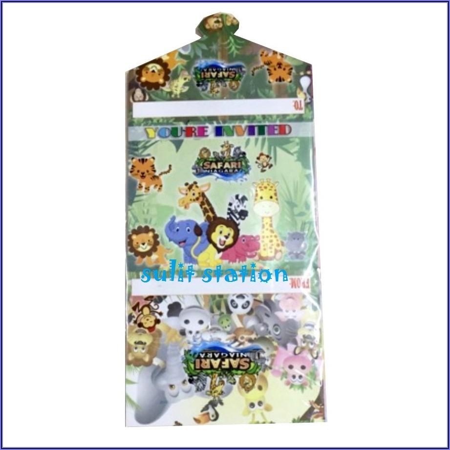Safari Themed Birthday Invitation Cards