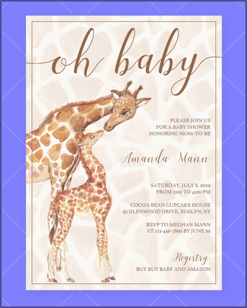 Safari Themed Invitation Template