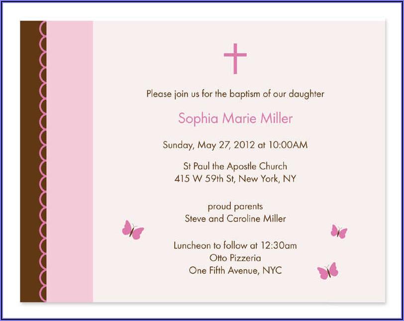 Sample First Communion Invitation Wording