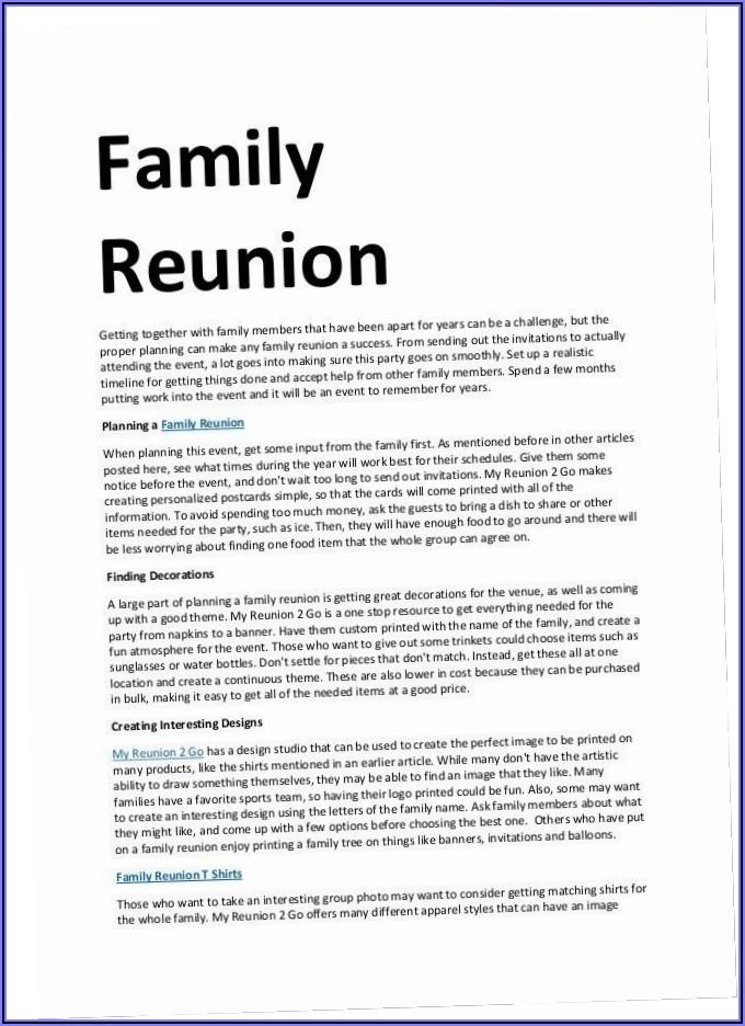 Sample Invitation Letter For Family Reunion Visa Germany