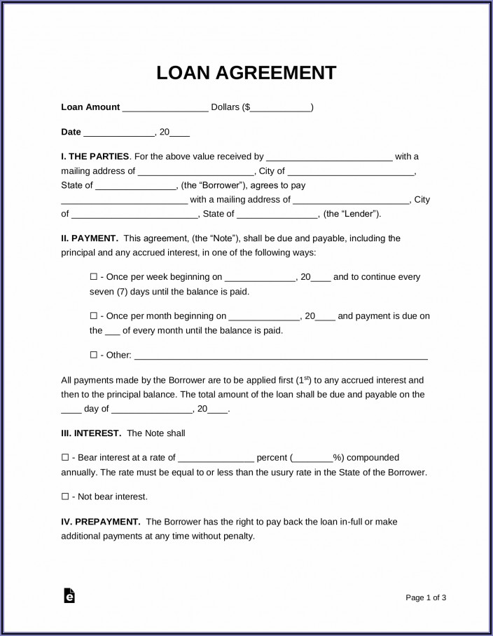 Sample Personal Loan Agreement Form Philippines
