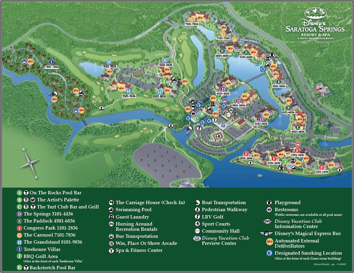 Saratoga Springs Disney Building Map