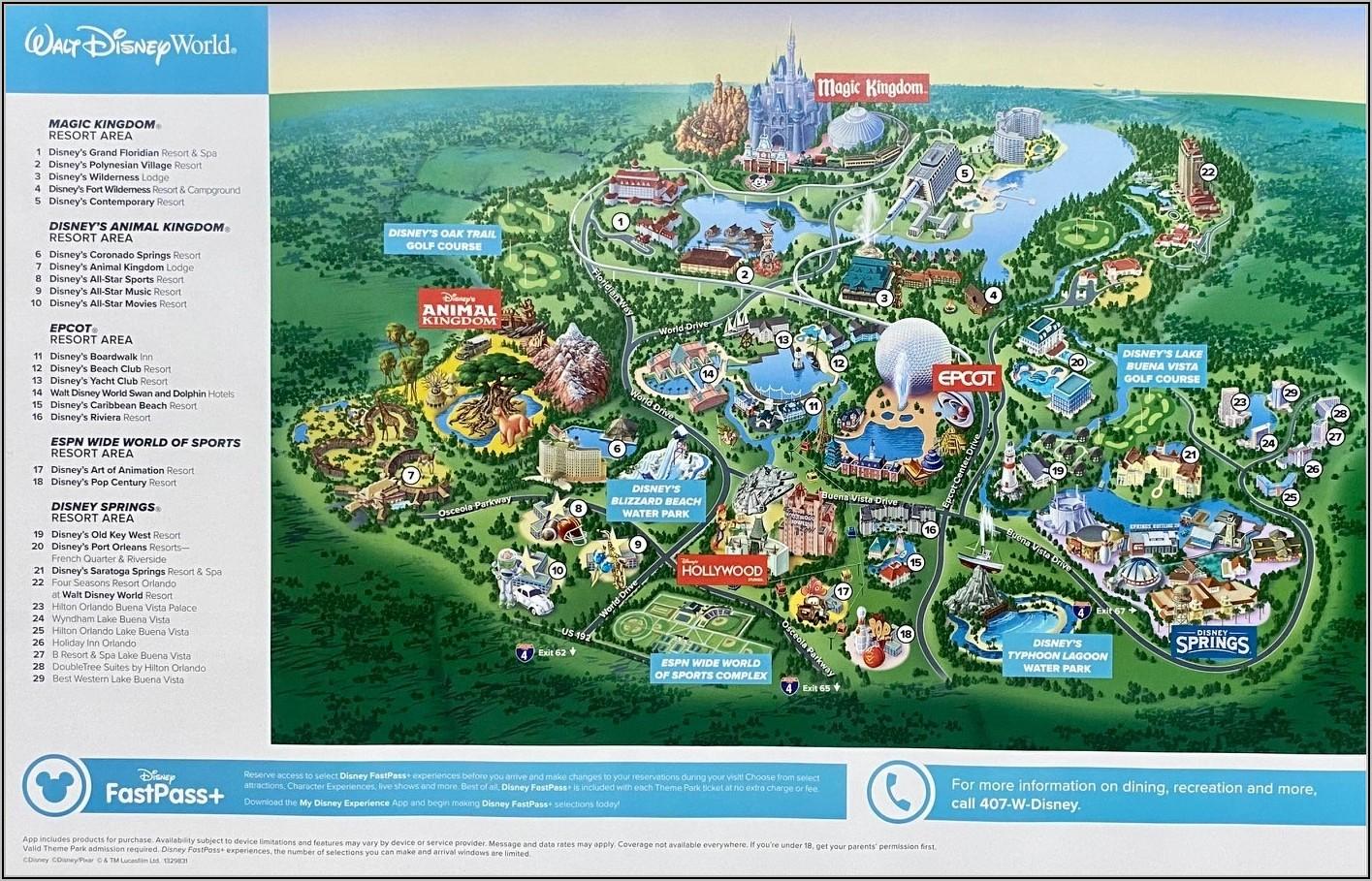 Saratoga Springs Disney Hotel Map