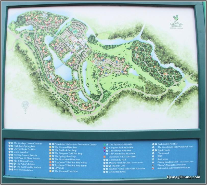 Saratoga Springs Disney World Map