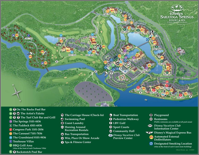 Saratoga Springs Map Disney World