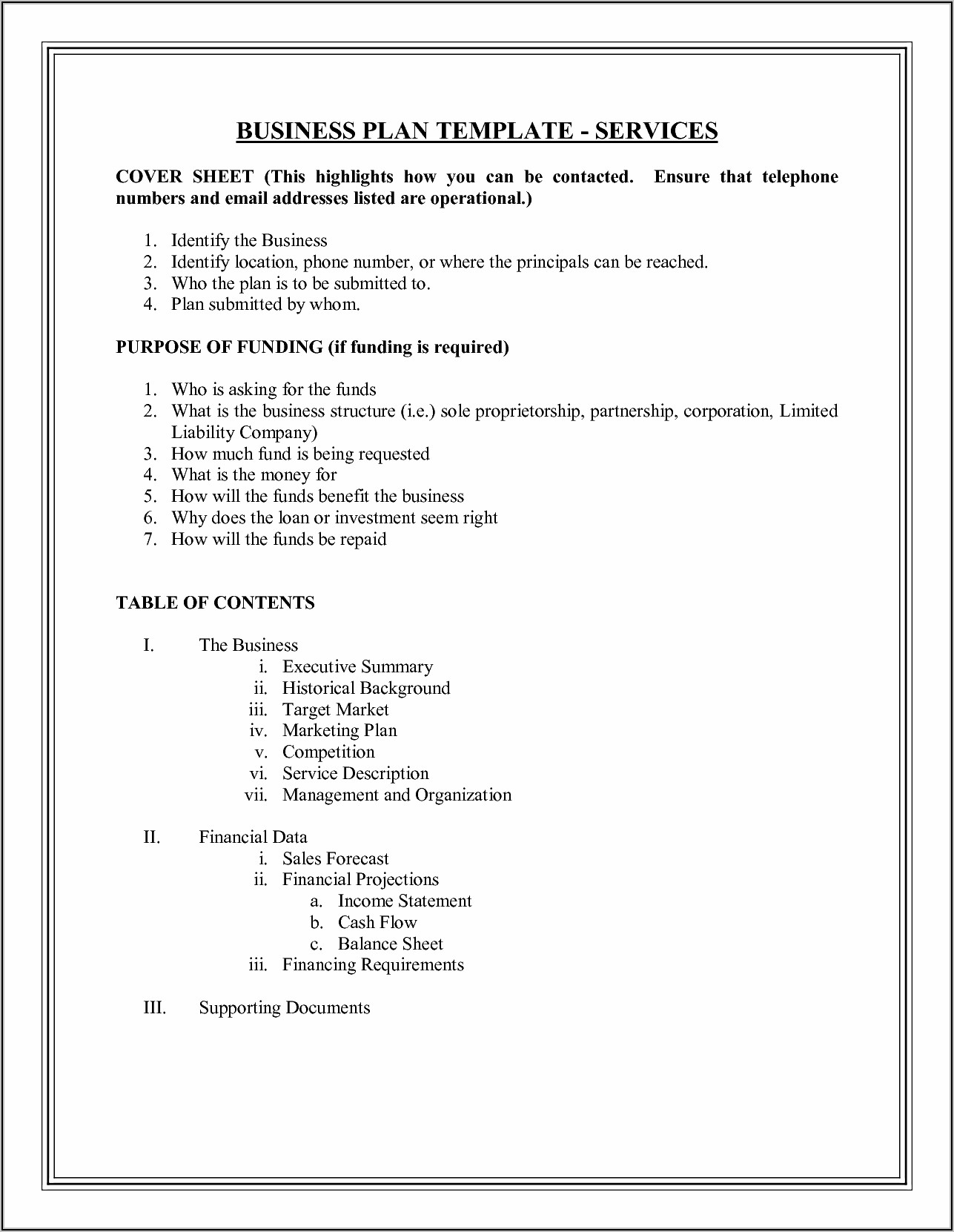 Security Company Business Plan Template Pdf