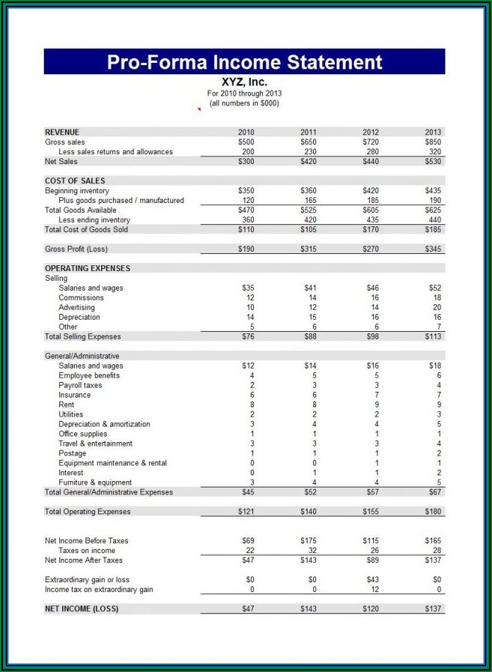 Simple Personal Financial Statement Blank Form
