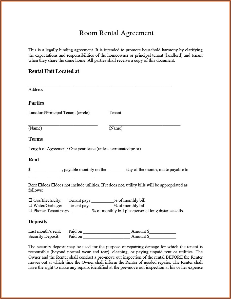 Simple Residential Lease Agreement Template South Africa Pdf