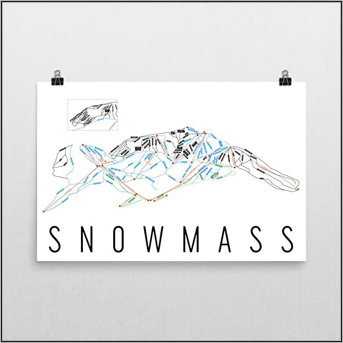 Snowmass Trail Map Poster