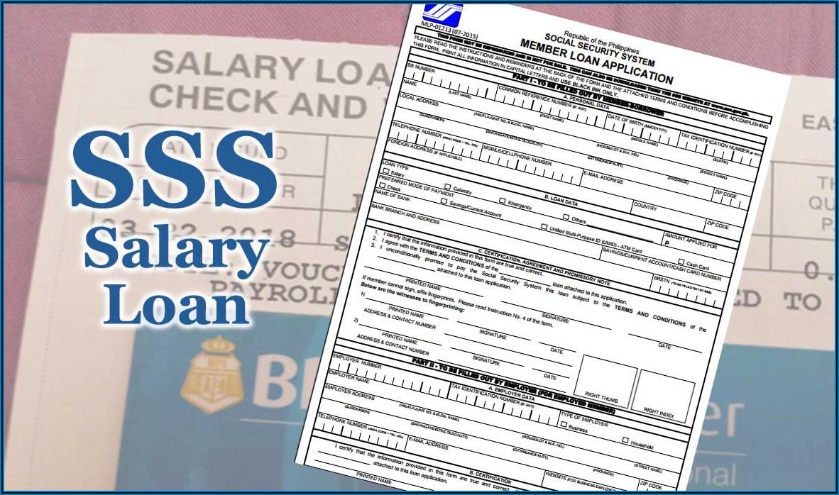 Social Security System Salary Loan Application Form