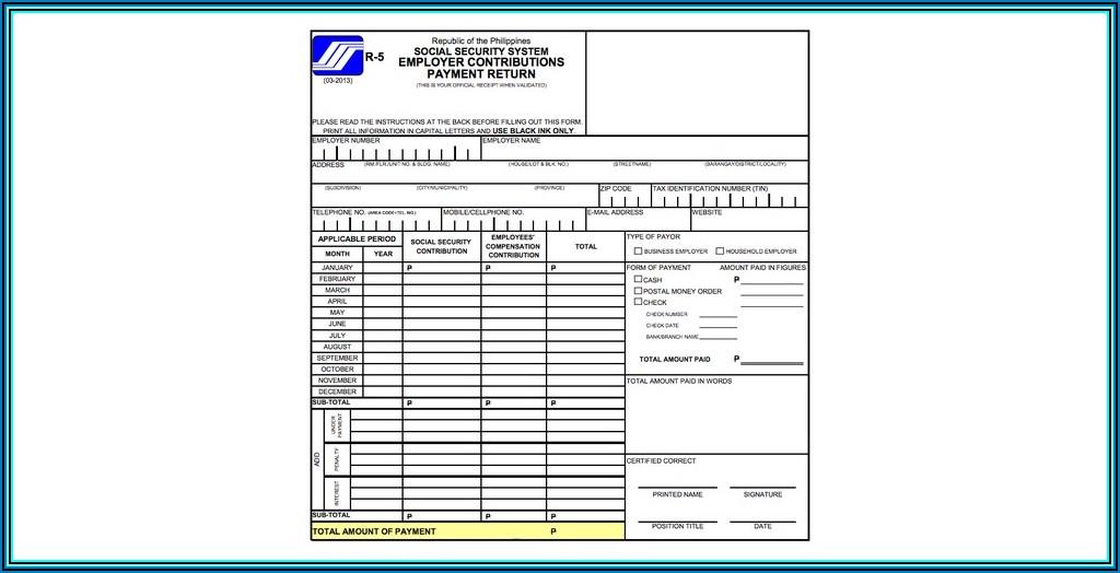 Social Security System Salary Loan Form