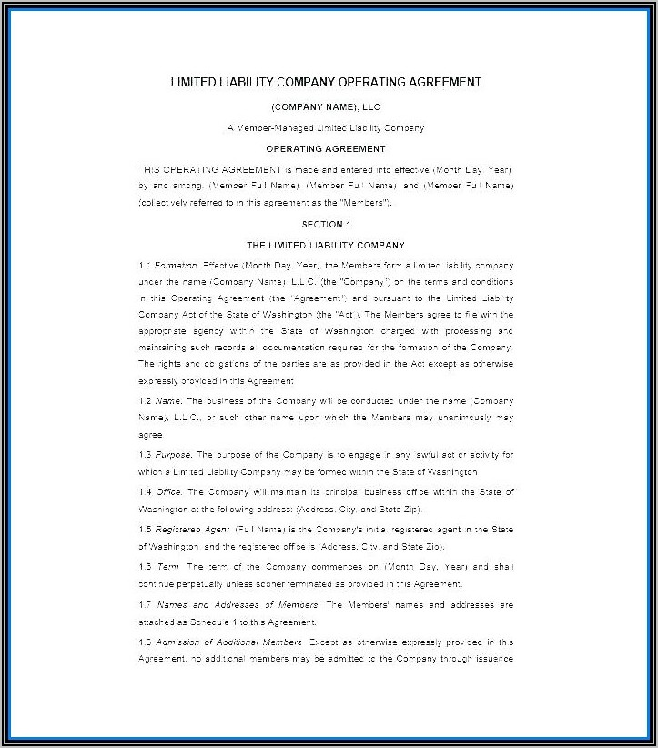Startup Investor Contract Template