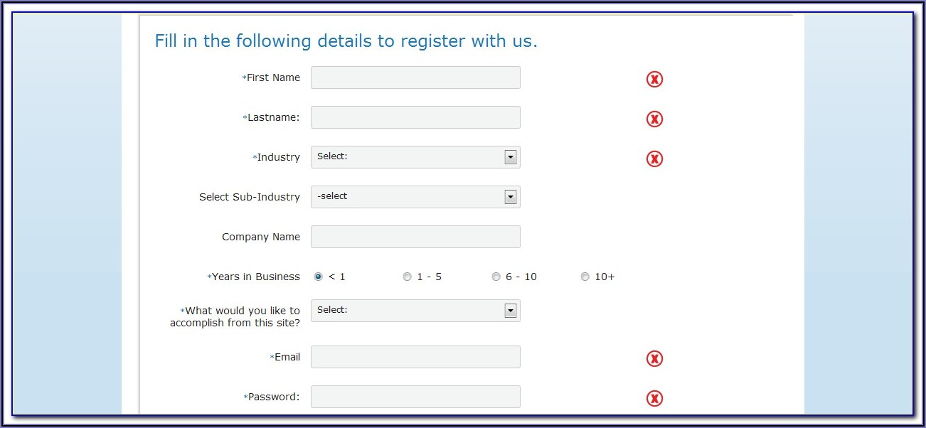 Student Registration Form Template In Html Free Download