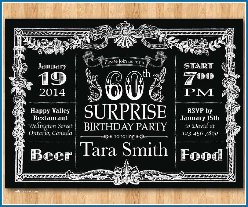 Surprise 60th Birthday Invitation Ideas