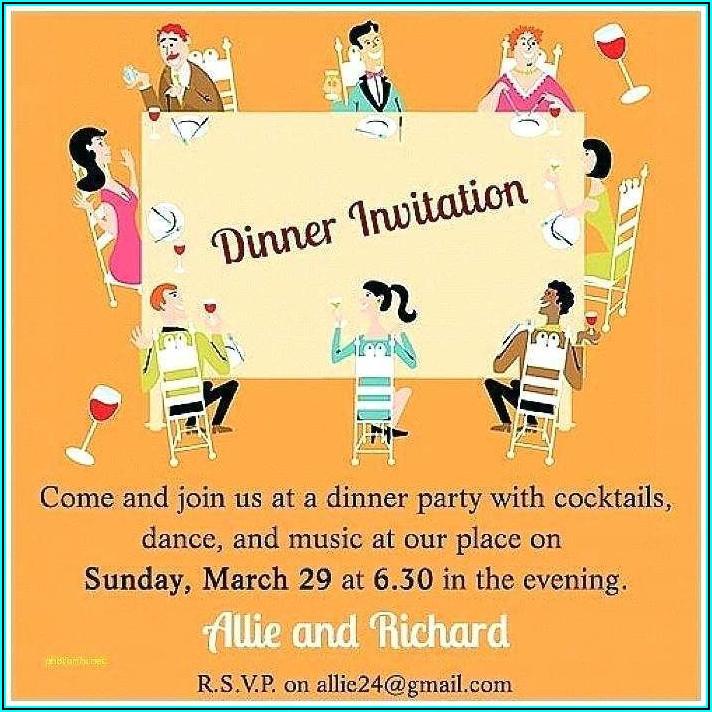 Team Dinner Invitation Email Example