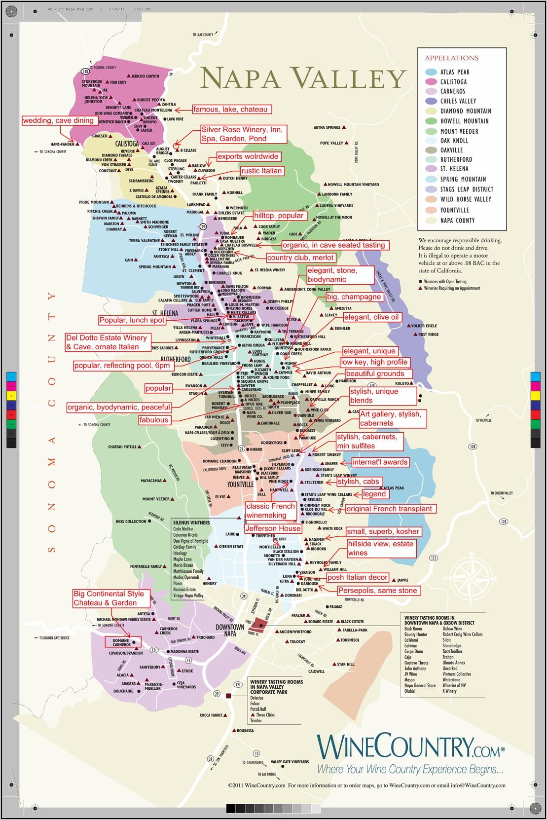 Temecula Wine Map 2019