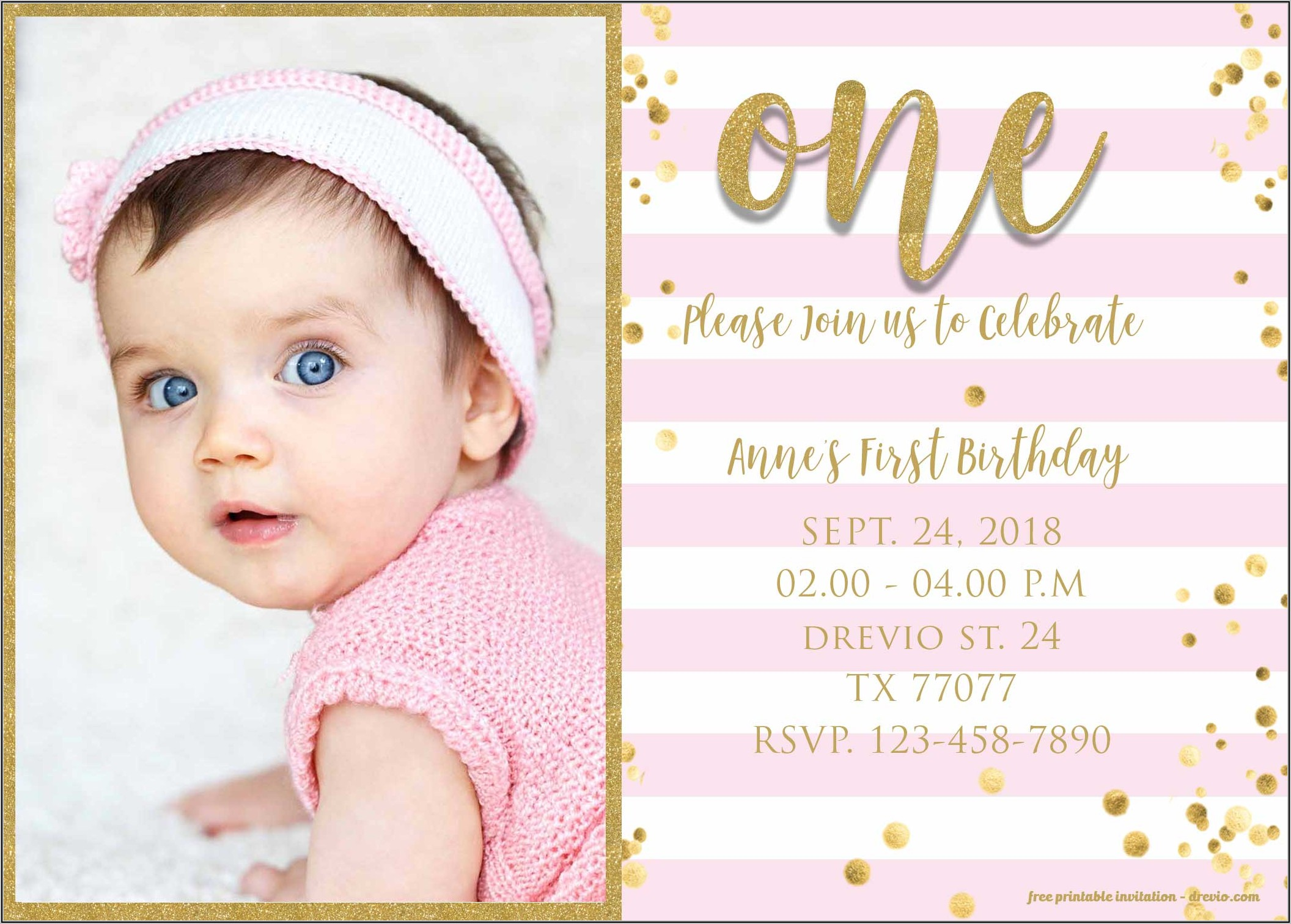 Templates For Birthday Invitations