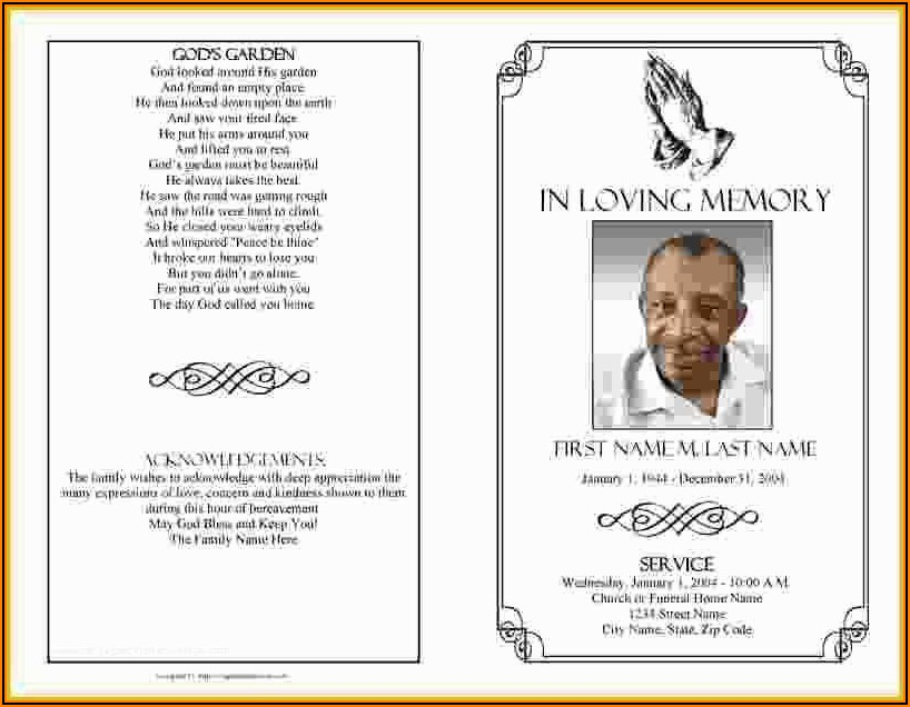 Templates For Memorial Cards