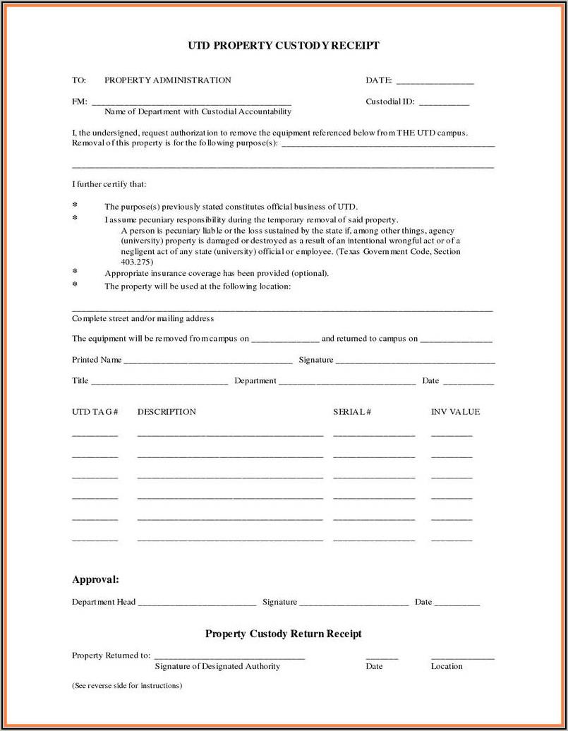 Temporary Custody Template Letter