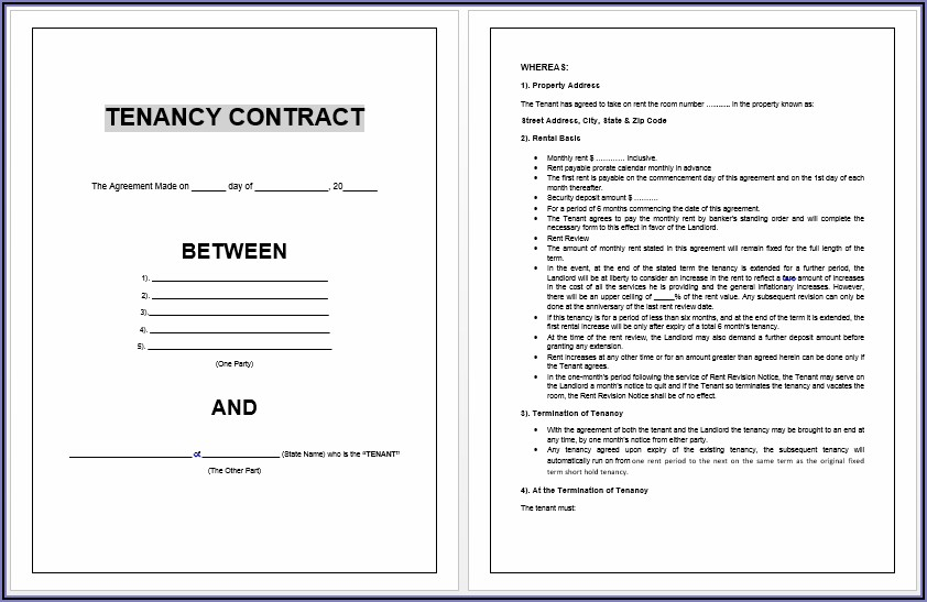 Tenant Agreement Form Free