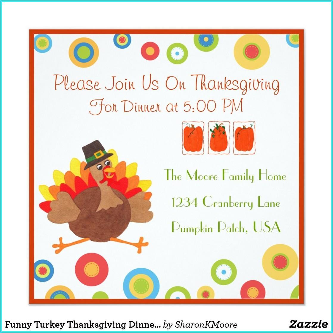 Thanksgiving Invite Wording Funny