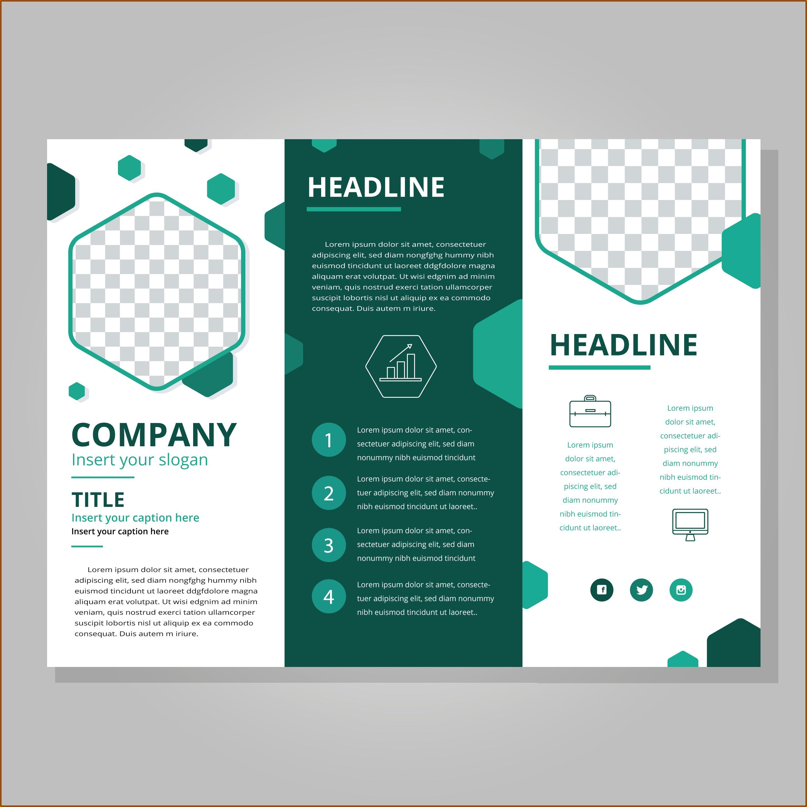 Tri Fold Brochure Design Template Free Download