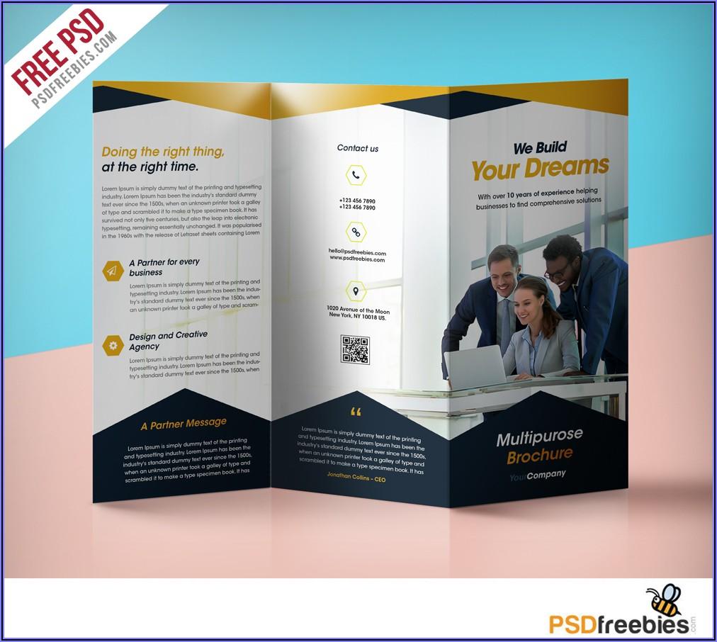 Tri Fold Brochure Template Download Free