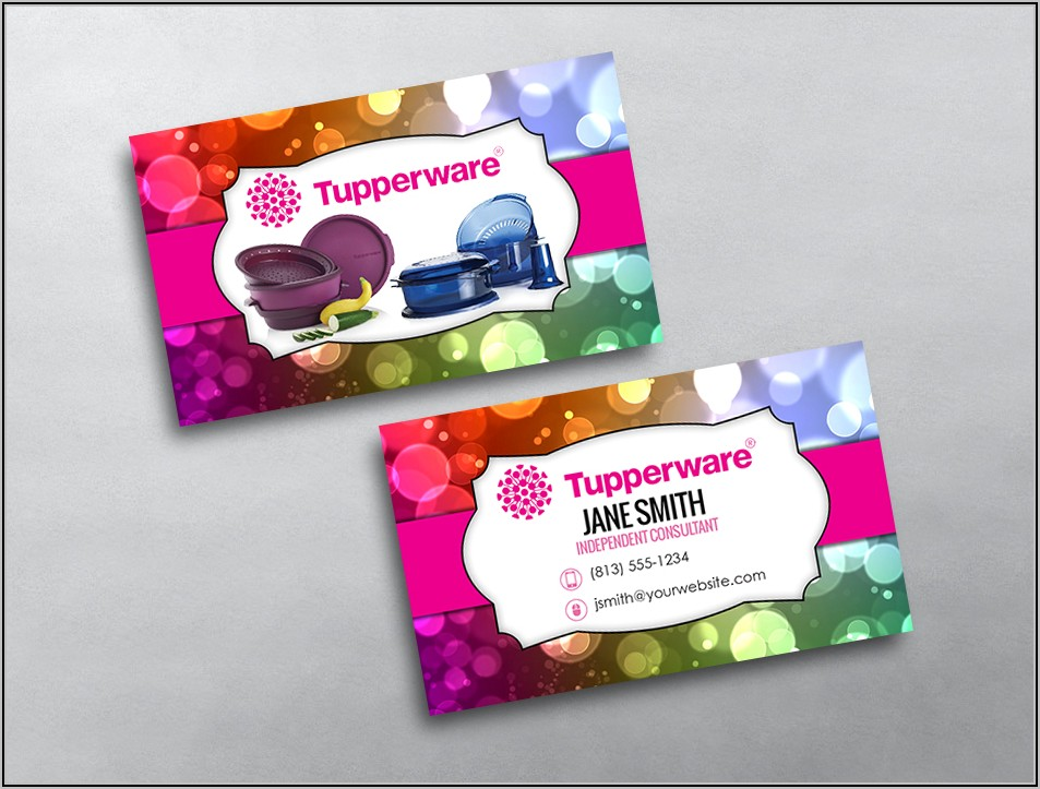 Tupperware Business Cards Template