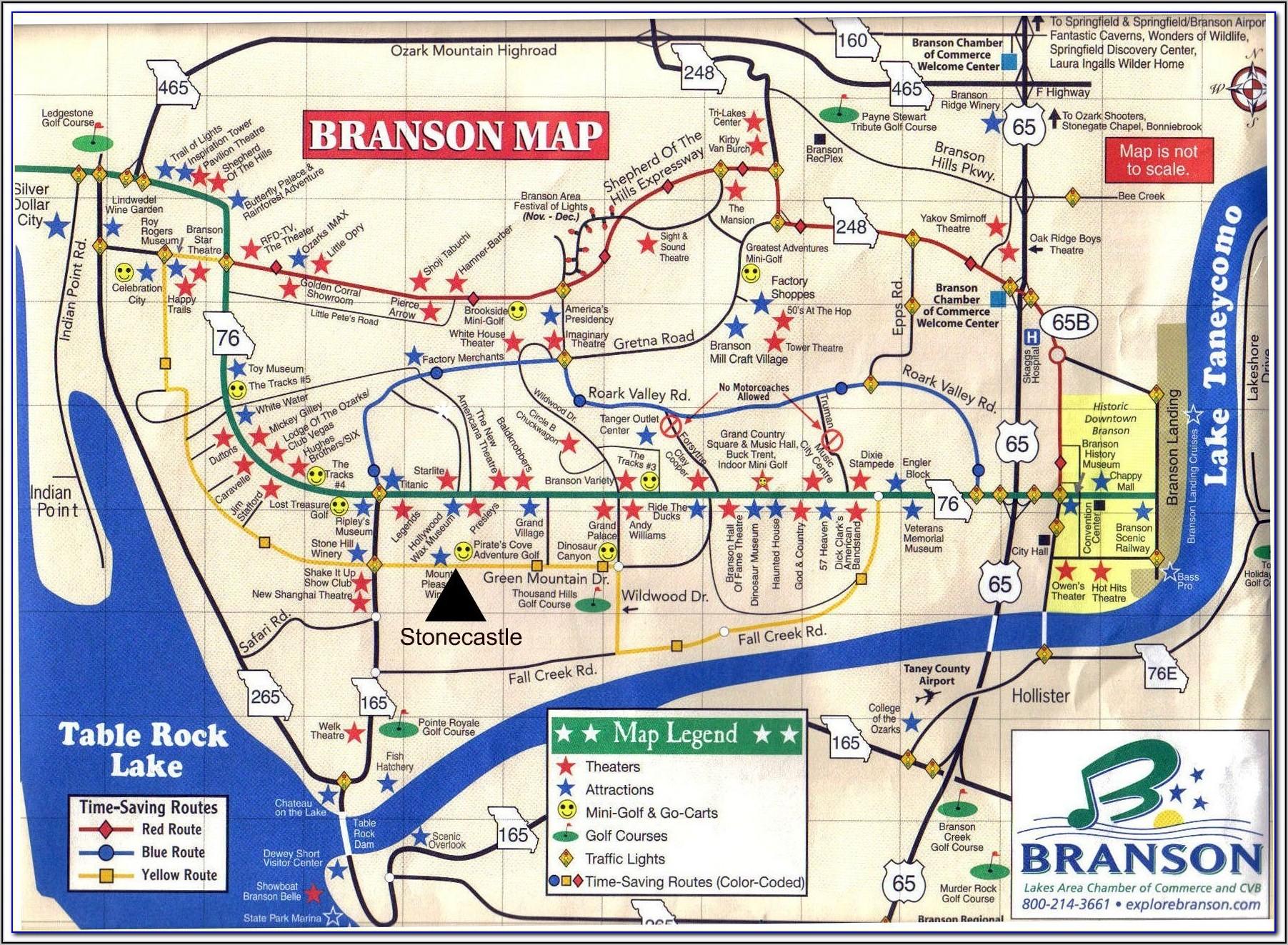 Vegas Strip Map Monorail