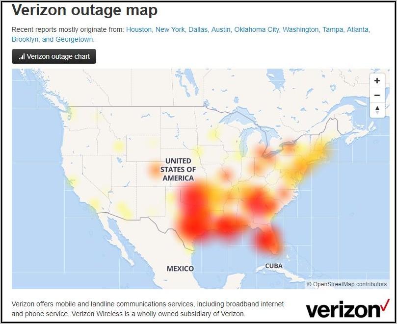 Verizon Fios Outage Map Tampa Fl