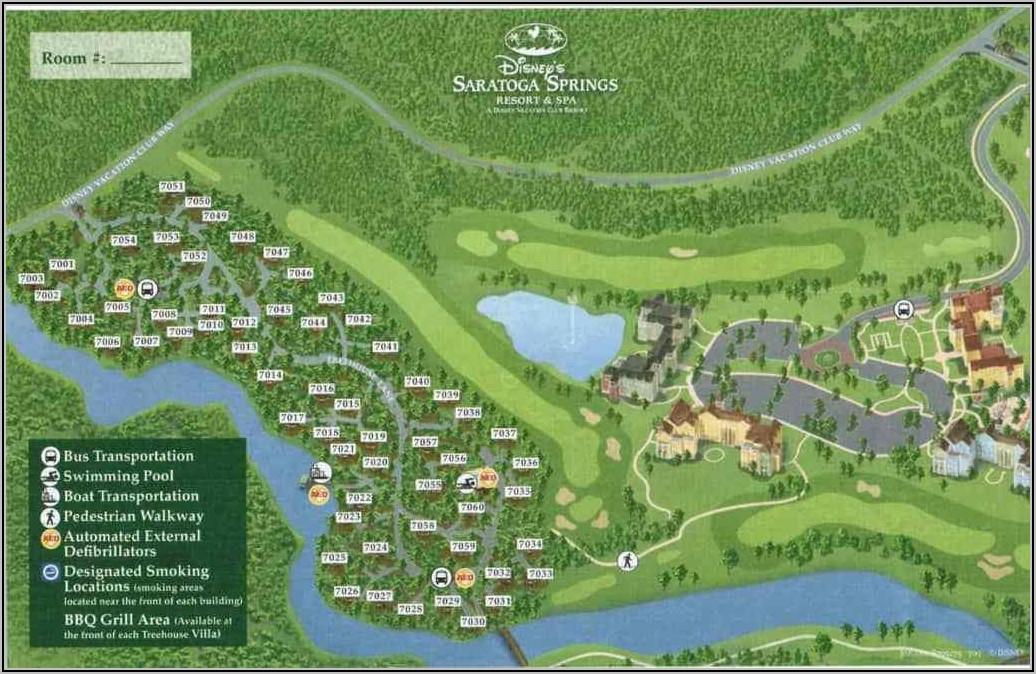 Walt Disney World Saratoga Springs Resort Map