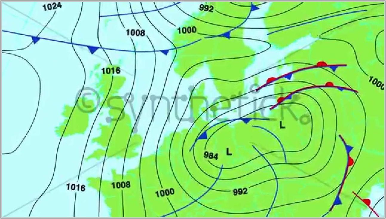 Weather Forecast Map Europe