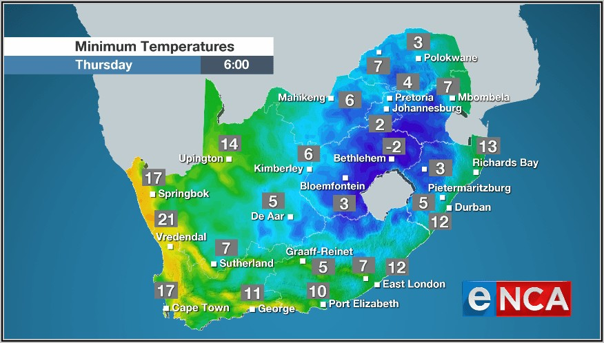 Weather Forecast Map South Africa