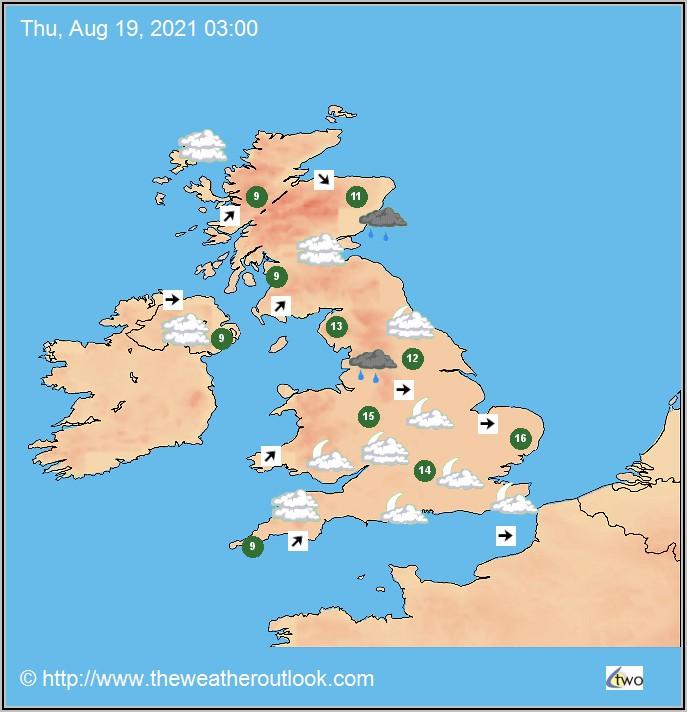 Weather Forecast United Kingdom Map