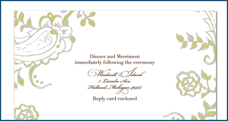 Wedding Invitation Card Blank Format