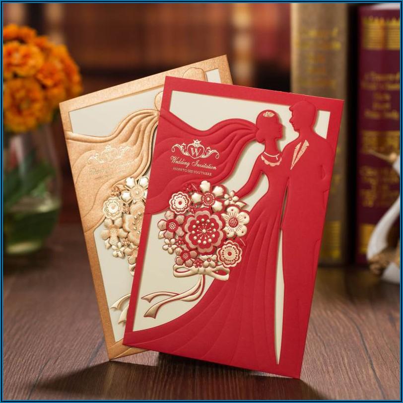 Wedding Invitation Card Blank Sample