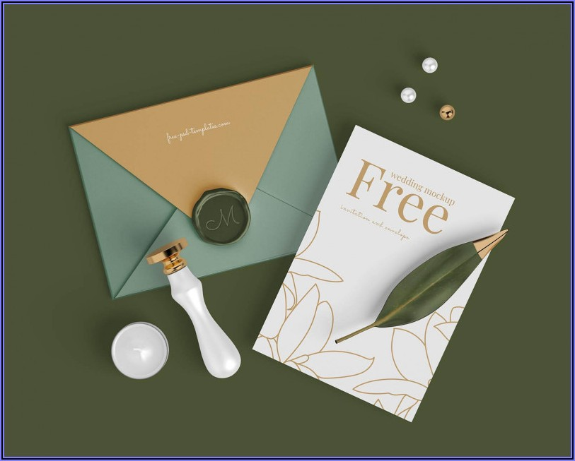 Wedding Invitation Card Mockup Psd Free