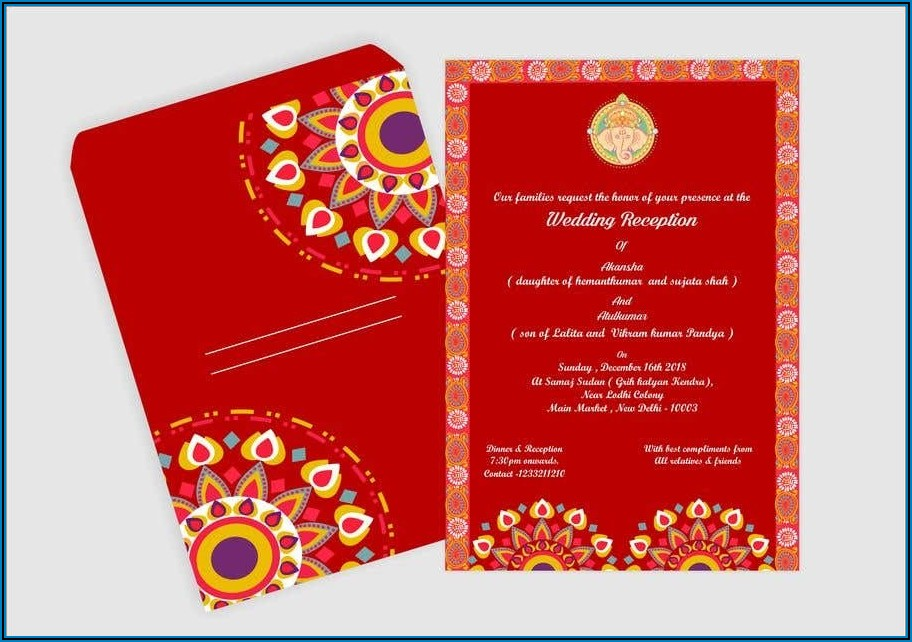 Wedding Invitation Card Template For Friends