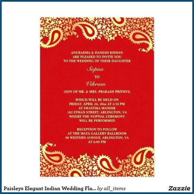 Wedding Invitation Card Template Indian Free