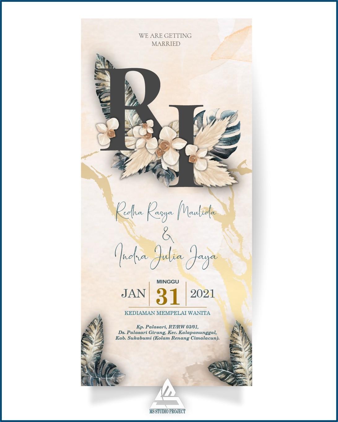 Wedding Invitation Card Template Video