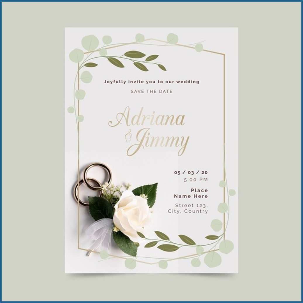 Wedding Invitation Card Template With Photo