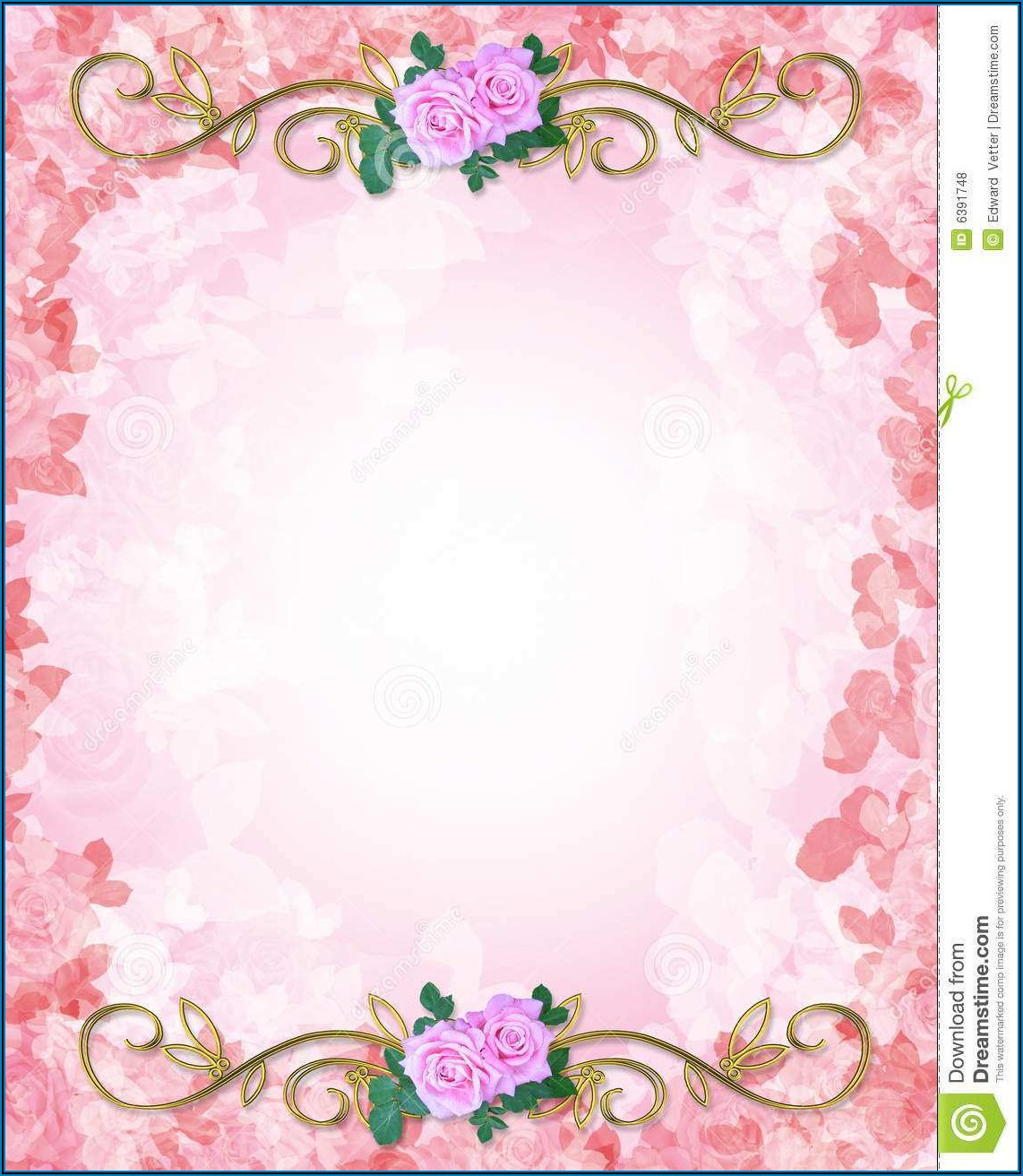 Wedding Invitation Cards Blank Templates Free Download