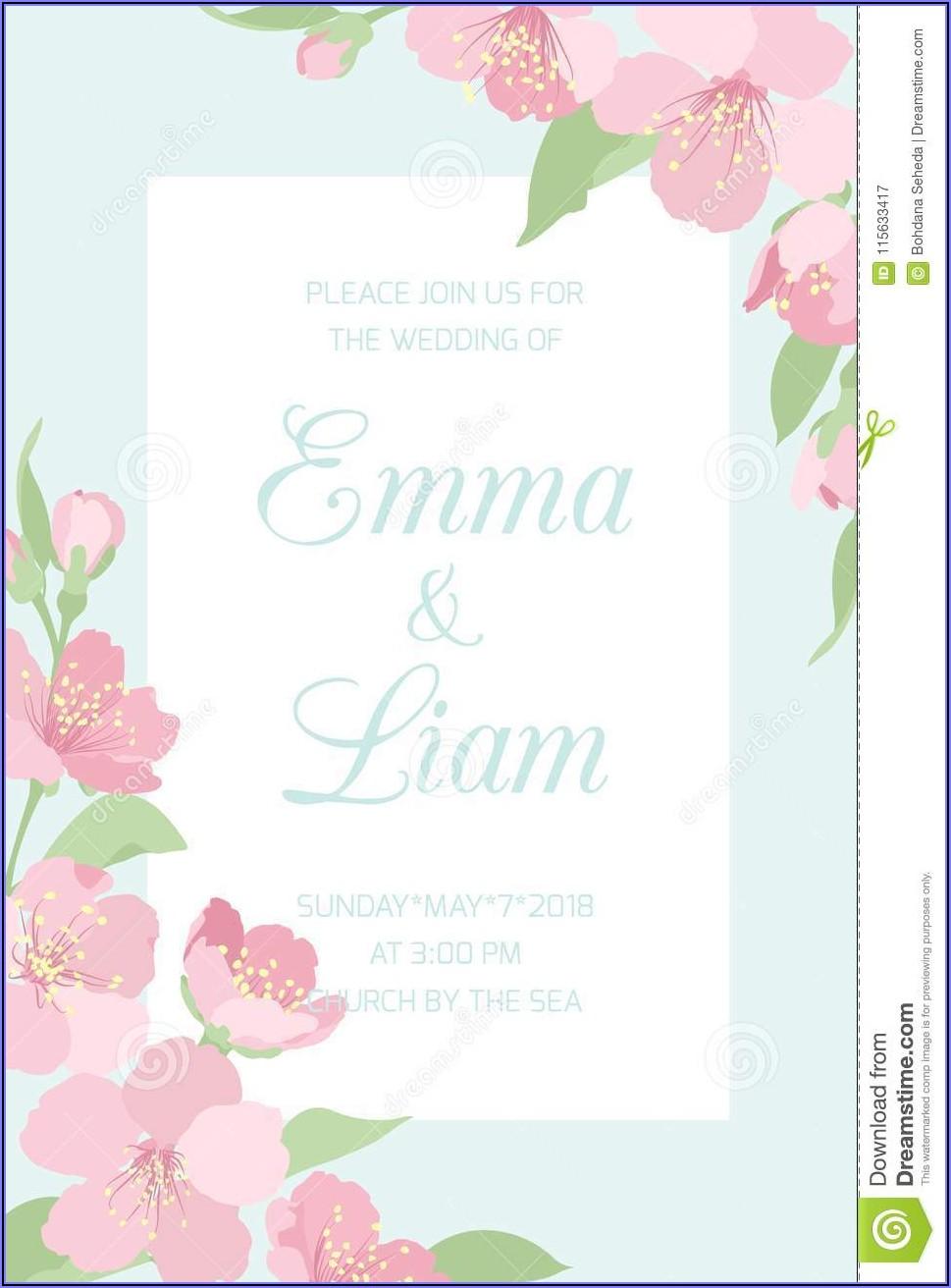 Wedding Invitation Cherry Blossom Design